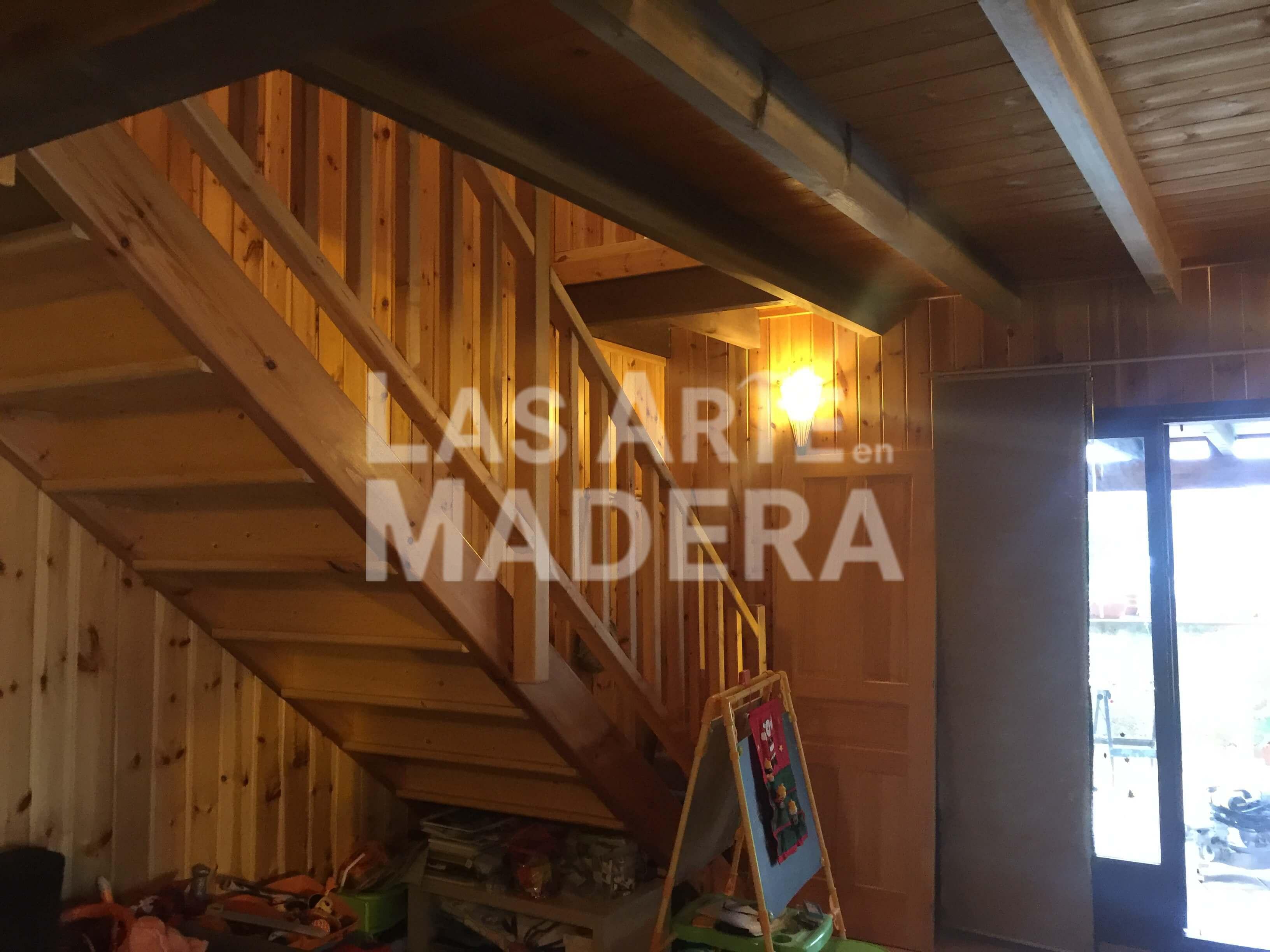 Escaleras de madera para interior en las artes en madera - Escaleras de interior de madera ...