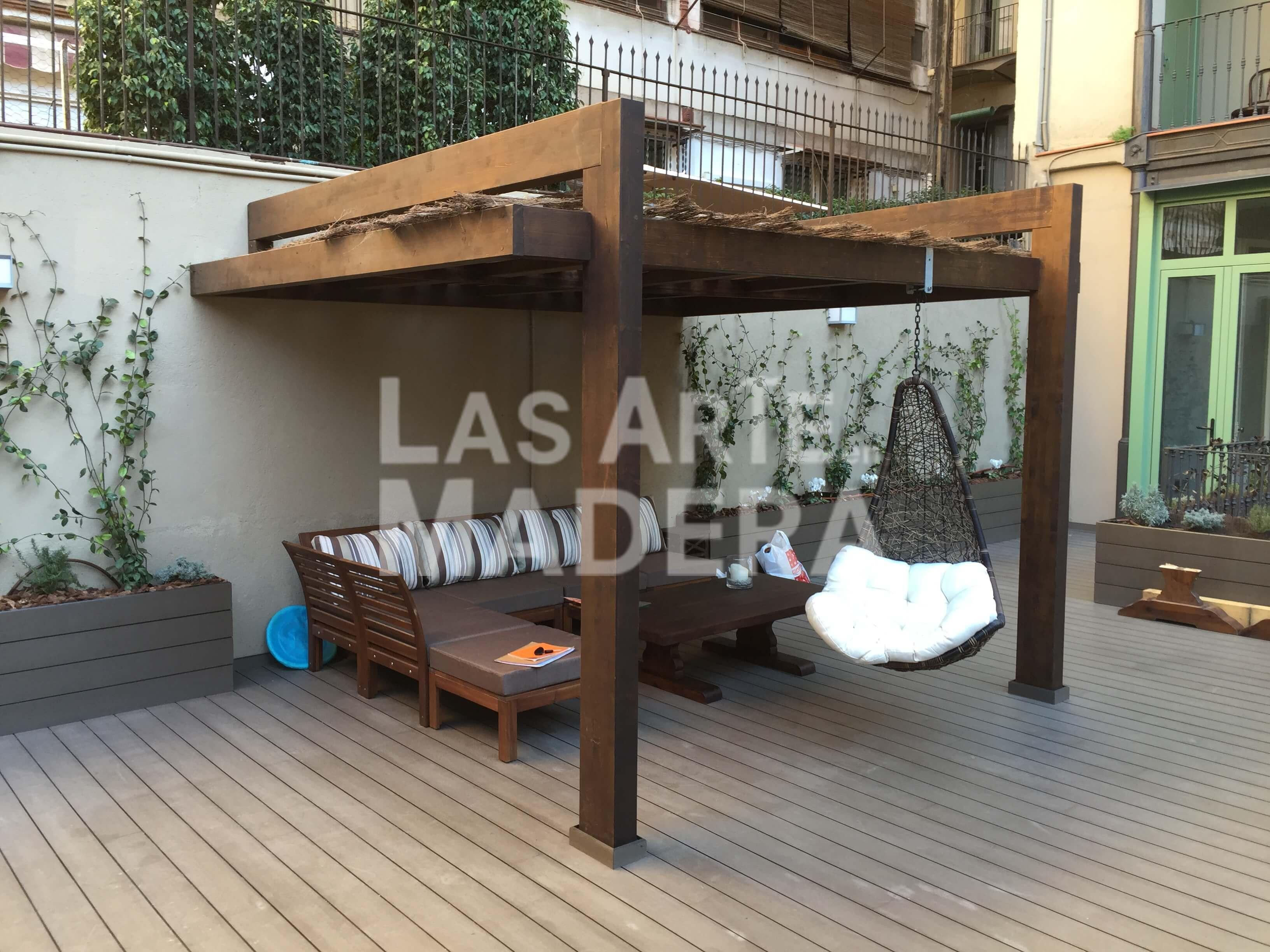 Porches de madera para coches porche de madera con cubierta a dos aguas with porches de madera - Porches para coches ...