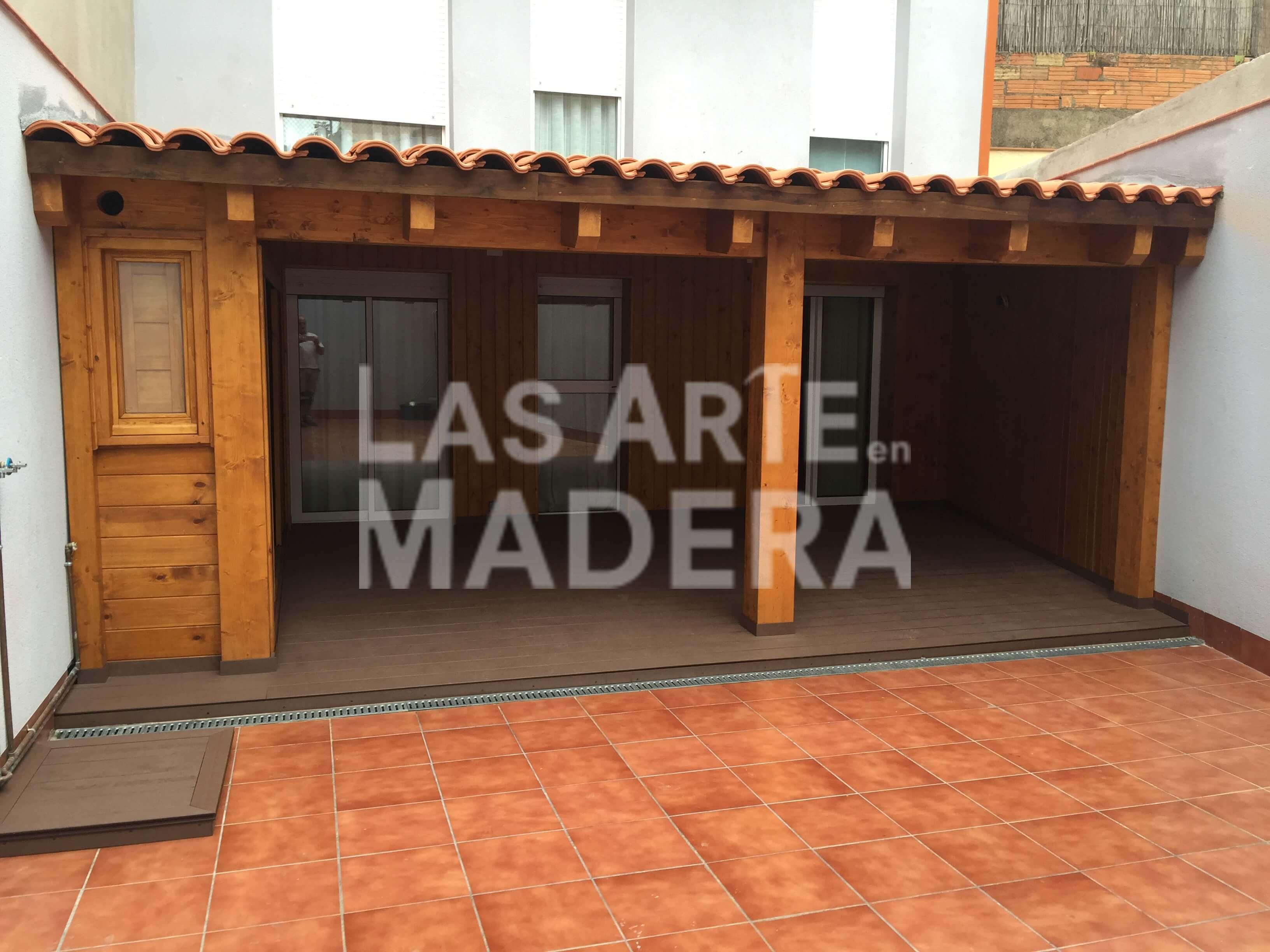 Construir un porche de madera free porches de madera with - Como hacer porche de madera ...